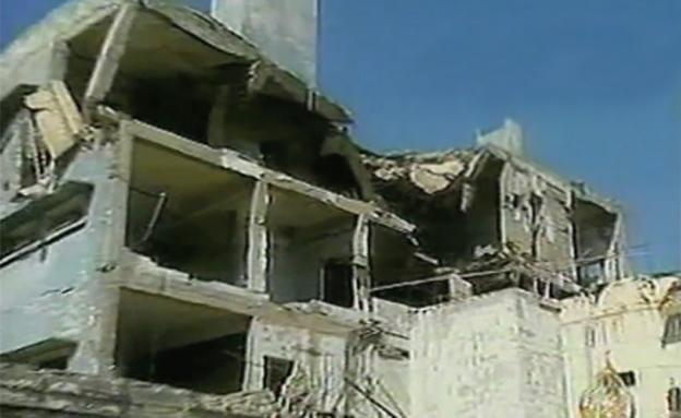 כור בעירק שהופצץ