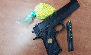 אקדח אוויר (ארכיון) (צילום: דוברות המשטרה)