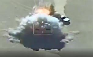המצרים מפציצים שיירת נשק מלוב (צילום: חדשות 2)