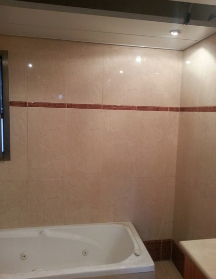 שרון שמעוני , אמבטיה לפני השיפוץ (צילום: ביתי)