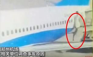 דיילת נפלה מהמטוס (צילום: יוטיוב)