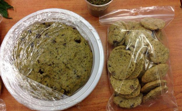 עוגיות חשיש (ארכיון) (צילום: דוברות המשטרה)