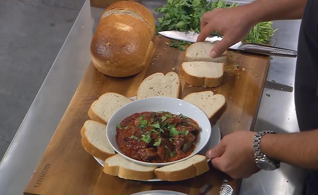 """תבשיל בשר ראש וחצילים (צילום: מתוך """"מאסטר שף"""" עונה 7, קשת)"""