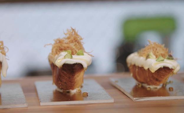 """עוגת גבינה בפיתה (צילום: מתוך """"מאסטר שף"""" עונה 7, קשת)"""