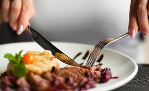 מנה במסעדה (צילום: By Dafna A.meron, shutterstock)