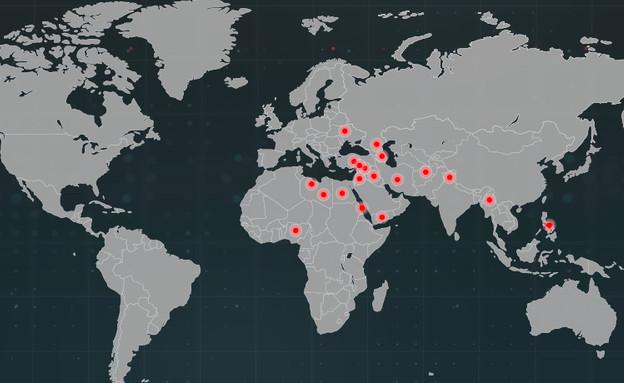 מפת המלחמות (צילום: סטודיו mako)