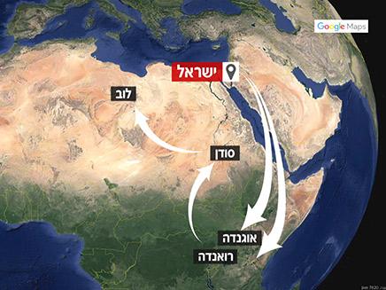המסע רצוף הסכנות שעוברים המהגרים (צילום: GOOGLE MAPS)