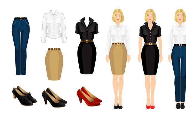קוד לבוש לנשים (אינפוגרפיקה: shutterstock)