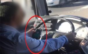 יותר מדי נהגים לא באמת נוהגים. צפו (צילום: חדשות 2)