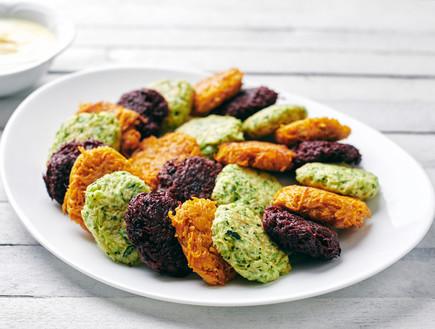 לביבות ירק אפויות ב-3 צבעים