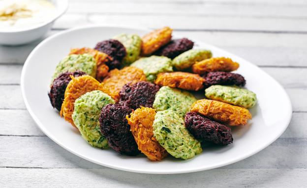 לביבות ירק אפויות ב-3 צבעים (צילום: אמיר מנחם, אוכל טוב)