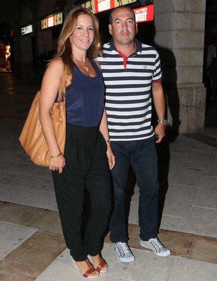 אייל ברקוביץ ואשתו (צילום: צ'ינו פפראצי)