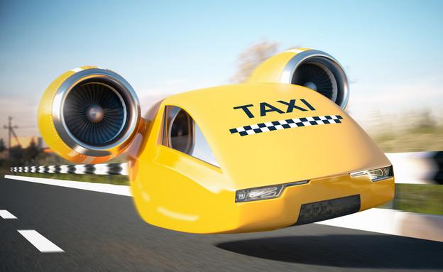 מונית מעופפת (צילום:  sergeysan1 , ShutterStock)