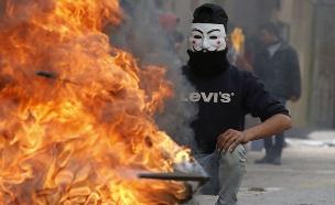 עימותים אחרי ההכרזה על ירושלים כבירה (צילום: חדשות 2)