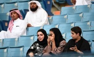 בקרוב בקולנוע? נשים באצטדיון בסעודיה, ארכיון (צילום: CNN)