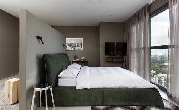 לי אולישה פנטהאוז, חדר שינה (צילום: שירן כרמל)
