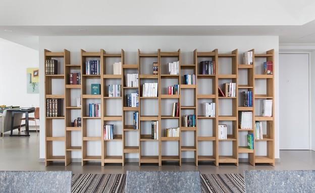 לי אולישה פנטהאוז, ספרייה (צילום: שירן כרמל)