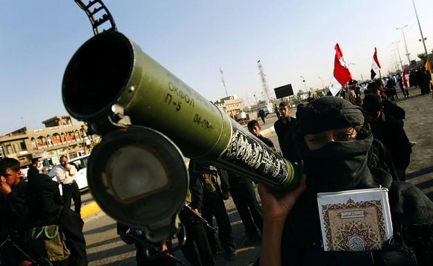 פעילי חיזבאללה (צילום: Wathiq Khuzaie, gettyimages)