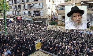 הכנות להלווית הרב שטיינמן בבני ברק (צילום: חדשות 2)