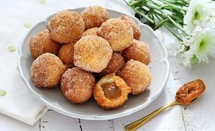 סופגניות ללא שמרים במילוי ריבת חלב (צילום: ענבל לביא, אוכל טוב)