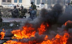עימותים בגדה, ארכיון (צילום: Sky News)