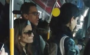 צפו: נוסעים כלואים באוטובוס (צילום: בנימין)