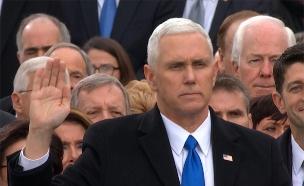 """סגן נשיא ארה""""ב מייק פנס (צילום: Sky News)"""