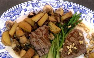 """פילה בקר עם תפוחי אדמה ופטריות (צילום: מתוך """"מאסטר שף"""" עונה 7, קשת 12)"""