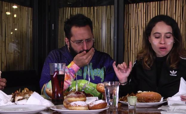 תחרות אכילת סופגניות (צילום: mako)