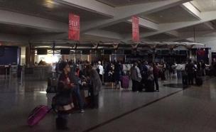 הפסקת חשמל בנמל התעופה באטלנטה (צילום: חדשות 2)
