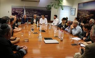 הפגישה במשרד האוצר, היום (צילום: דוברות משרד האוצר)