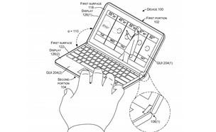 """מתוך בקשת פטנט של מיקרוסופט ל""""מכשיר עם צירים"""" (איור: מיקרוסופט)"""