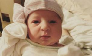 אמה גיבסון, התינוקת שעוברה הוקפא לפני 24 שנה (צילום: sky news)