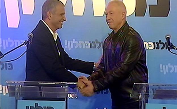 כניסתו של גלנט דחקה את גבאי לפני הבחירות (צילום: חדשות 2)