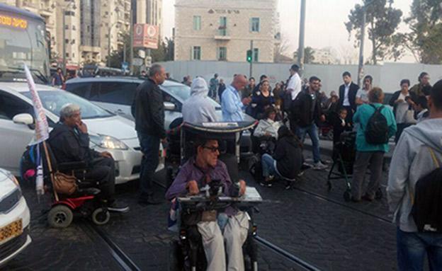 מחאת הנכים בירושלים. ארכיון (צילום: החדשות)