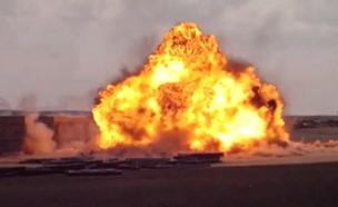 פיצוץ טיל (צילום: החדשות)