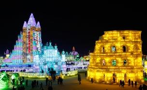 צפו: פסטיבל הקרח המרהיב בסין (צילום: רויטרס)