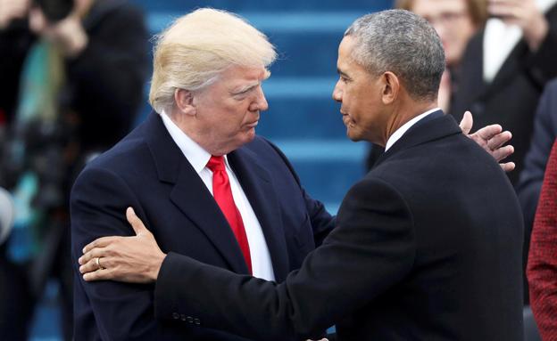 טראמפ בהשבעה (צילום: רויטרס)