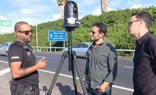 מצלמה לתיעוד מסמסים בנהיגה (צילום: החדשות)