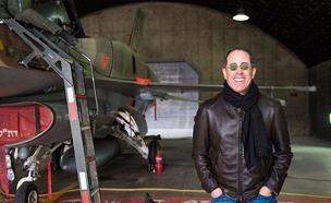 סיינפלד בביקור בטייסת (צילום: חיל האויר)