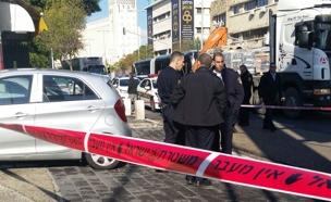 זירת רצח בחיפה, ארכיון (צילום: שמעון אדרי ורפאל ביטון)