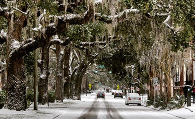 הרחובות ריקים בחלק הצפון מזרחי (צילום: CNN)