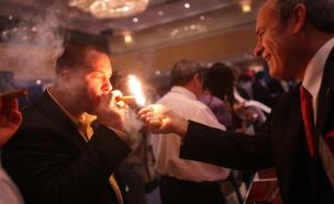 אירוע של סיגרים יוקרתיים בניו יורק (צילום: GettyImages - Spencer Platt)
