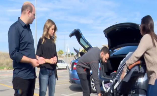מבחן תא המטען של המכוניות המשפחתיות (צילום: התכנית הכלכלית, חדשות 2)