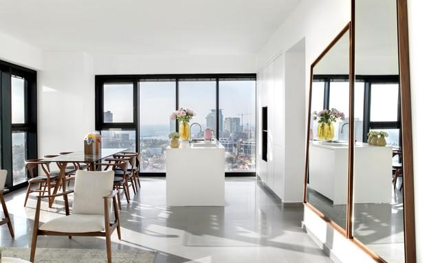 מאי פולק - בדרכה שלה - דירה במגדל ליבר, נווה צדק - כך זה נראה אחרי (צילום: ערן תורג'מן)