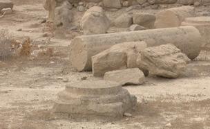 """אתר ארכיאולוגי יהודי שנהרס ע""""י פלסטינים (צילום: חדשות 2)"""