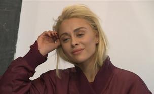 """לי לוי חותמת על חוזי דוגמנות חדשים  (צילום: מתוך """"ערב טוב עם גיא פינס"""", קשת 12)"""