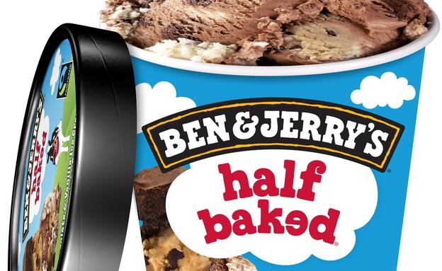 גלידת חצי אפוי, בן אנד ג'ריס (צילום: יחסי ציבור)