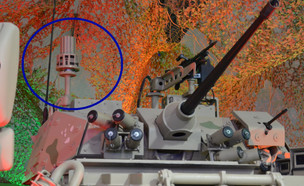 מערכת נשק ישראלית בכוית (צילום: צילום מסך twitter @GrantTurnbull)