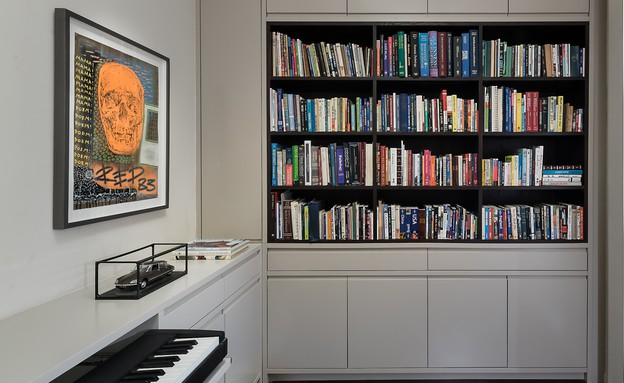 בית הפסנתרן, ספרייה (36) (צילום: Amit Gosher)